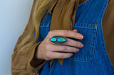 Surroundings Ring (A) ◇ Royston Turquoise ◇ Size 9