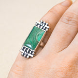 Empress Ring (A) ◇ Green Variscite ◇ Size 5