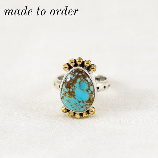 Petite Prisms Ring ◇ MADE TO ORDER ◇ Number Eight Turquoise