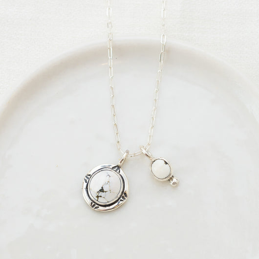 Howlite Charm Necklace (B)