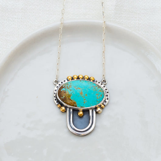 Prisms Necklace (B) ◇ Number Eight Turquoise