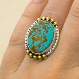 Ellipse Ring ◇ MADE TO ORDER ◇ Number Eight Turquoise