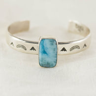 With the Tides Cuff ◇ Larimar (A)