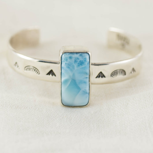 With the Tides Cuff ◇ Larimar (B)