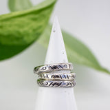 Stackable Stamped Silver Band