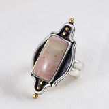 Pink Dunes Ring ◇ Willow Creek Jasper ◇ Size 7.5