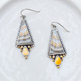 Golden Valley Earrings ◇ Agate + Ethiopian Opal
