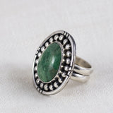 Surroundings Ring (A) ◇ Green Variscite ◇ Size 7