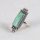 Fortress Ring ◇ Green Variscite ◇ Size 5.5