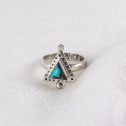 Petite Turquoise Ring (D) ◇ Royston Turquoise ◇ Size 7
