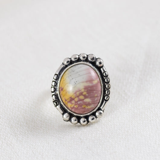 Petite Ellipse Ring (A) ◇ Willow Creek Jasper ◇ Size 5