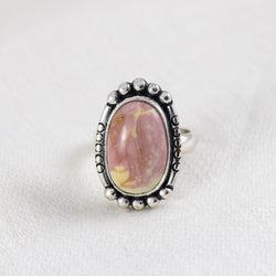 Petite Ellipse Ring (C) ◇ Willow Creek Jasper ◇ Size 7