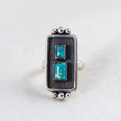 Kindred Ring (B) ◇ Royston Turquoise ◇ Size 5.5