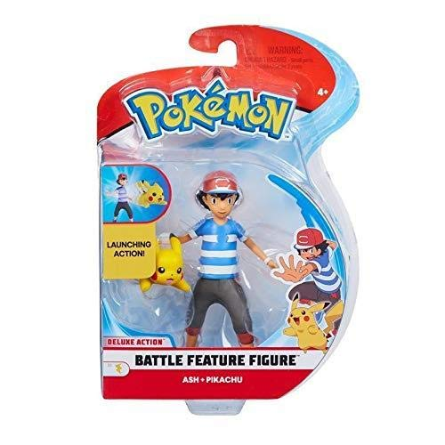 Pokemon Battle Feature Figure Ash & Pikachu
