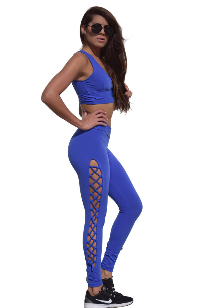 Sassy Lace Crisscrossing Fuso Leggings