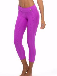 Up Vibe Fitness Wear Purple Onda Wavy Textured Leggings One Size Fits Most Stylish Apparel