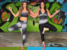 Yoga Full Coverage Top Grey Fusion Prints