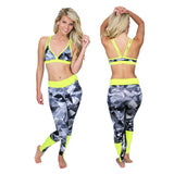 Kelly Glassy Neon Print Full Legging