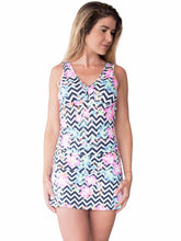 Fitness Tennis Dress Abstract Tropical Flower Prints