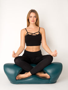 Alexia Meditation Seat - Leather - Zen Yoga Chair for Home or Office
