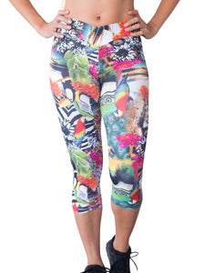 Amazon Prints Crisscross Waist Capri Leggings