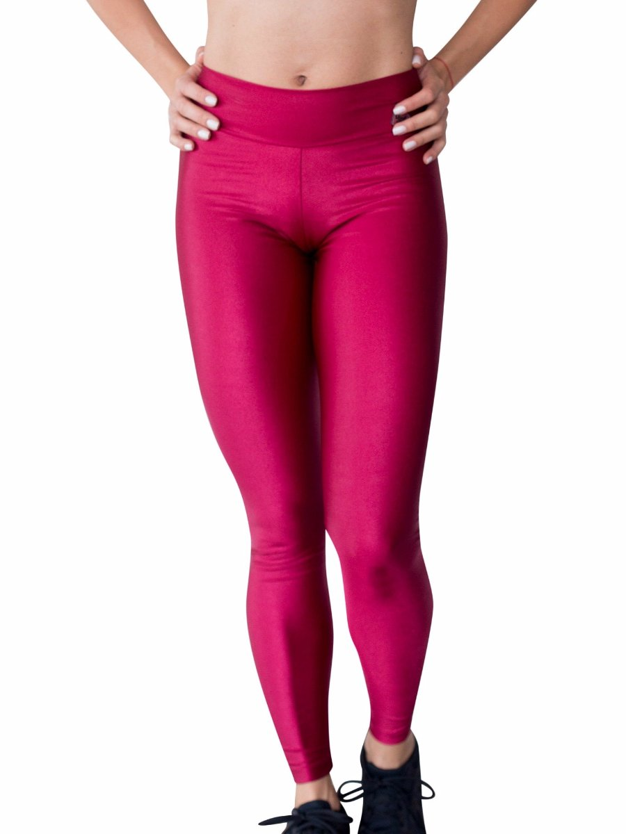 Athletic Shiny Cirre Glossy Leggings