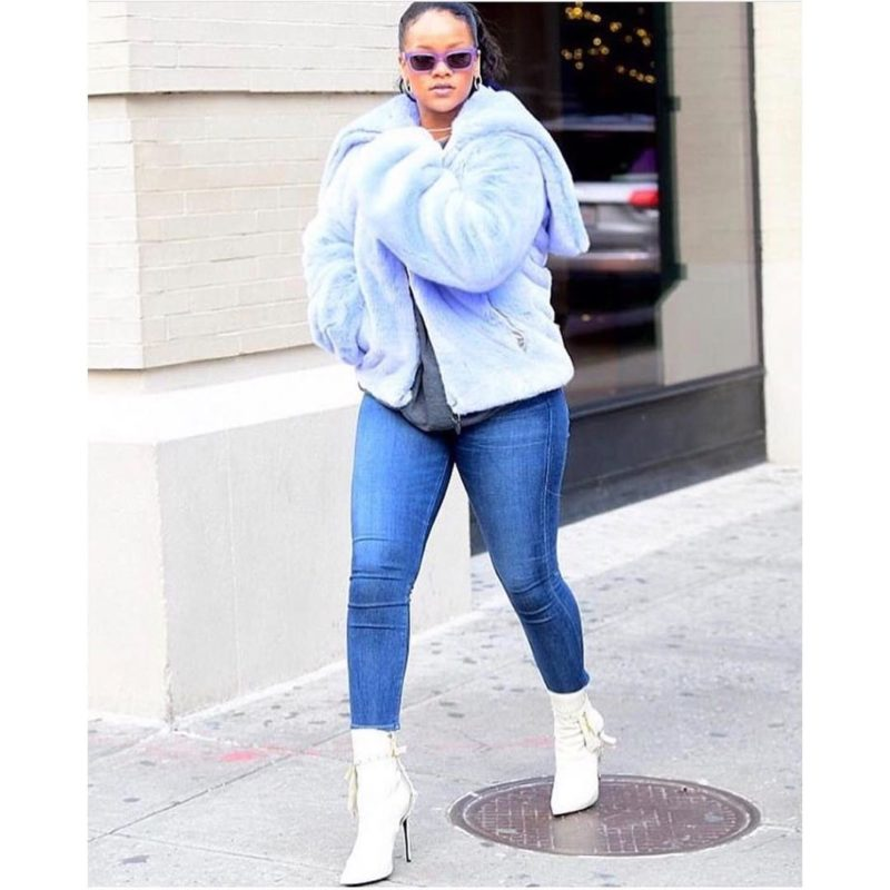 Fashion Icon Rihanna Steps Out in Kendall Miles Designs 'Pout' Boot