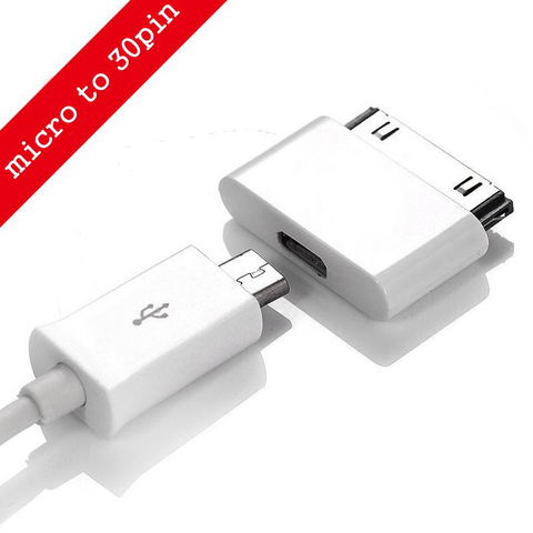 Apple 30 pin micro USB adapter white