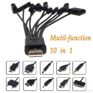 10 in 1 multi charge sync cable