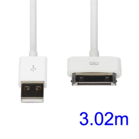 apple 30 pin charge sync cable 3m white