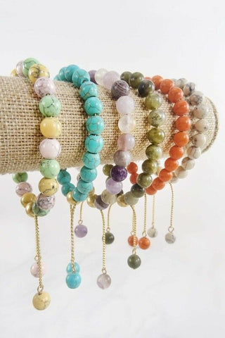 Women Fashion Jewelry Adjustable Cord Bead Bracelet Assorted Colors Fall Bangle