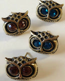 Women Jewelry Fashion Retro Vintage Fashion Jewelry Owl Earrings Aqua Yellow