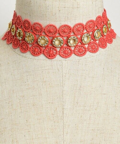 Women Fashion Jewelry Fabric Retro Vintage Asstd Chokers Necklace Casual Bling