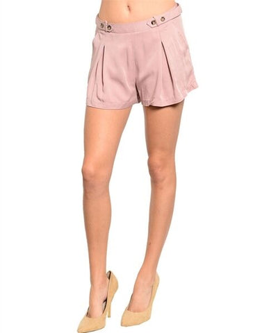 Fashion Women Dressy Dusty Pink Blush Shorts Hot Pants Summer Style Relaxed Cute