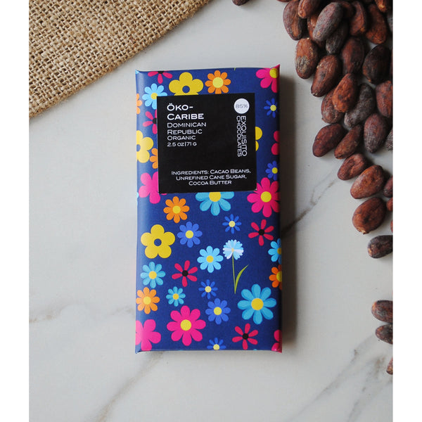 85% Oko Caribe, Dominican Republic Dark Chocolate Bar