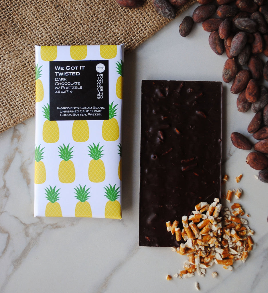 73% We Got It Twisted, Ecuador Dark Chocolate & Pretzel Bar