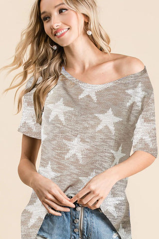 Oatmeal Star Top