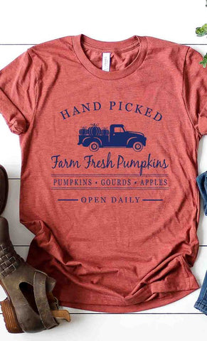 hand picked farm fresh pumpkin tee