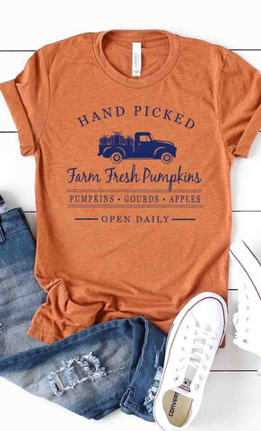 hand picked farm fresh pumpkins tee