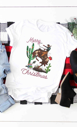 western christmas t-shirt