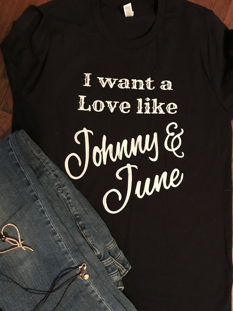 Johnny and June T-Shirt - Aunt Lillie Bells
