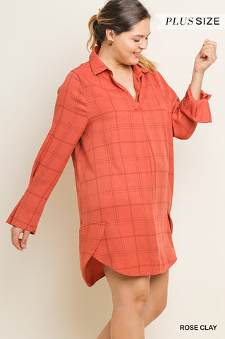 Rose Clay Plaid Dress - Aunt Lillie Bells