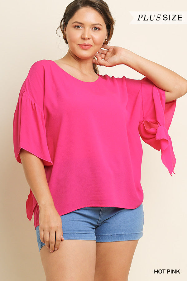 Hot Pink Plus Size Top - Aunt Lillie Bells