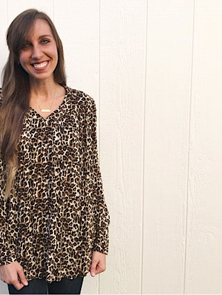 Cream Leopard Print Top - Aunt Lillie Bells