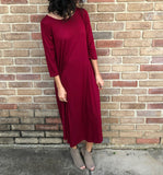 Cabernet T-Shirt Dress - Aunt Lillie Bells
