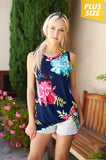 Navy Floral Twist Knot Top - Aunt Lillie Bells
