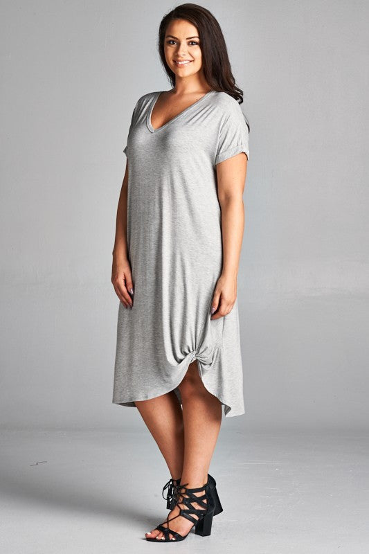 Heather Grey T-Shirt Dress - Aunt Lillie Bells