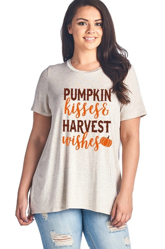 Pumpkin Kisses and Harvest Wishes T-shirt - Aunt Lillie Bells