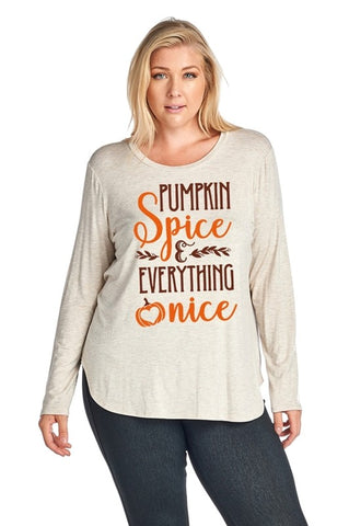 Pumpkin Spice and Everything Nice T-Shirt - Aunt Lillie Bells