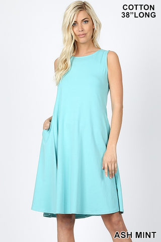 mint a line dress with pockets in our online boutique